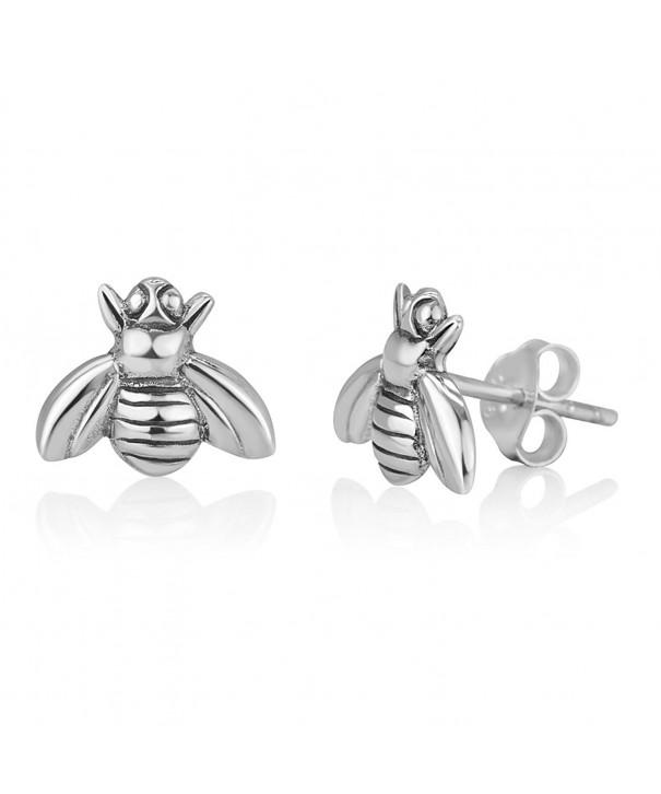 Oxidized Sterling Silver Little Earrings