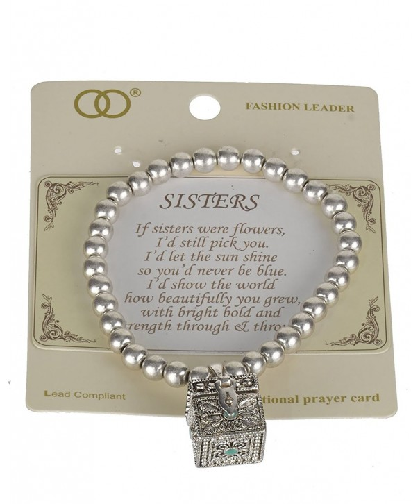 Sisters Inspired Stretch Bracelet Textured