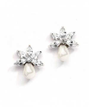 Mariell Freshwater Cluster Wedding Earrings
