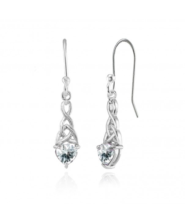 Sterling Silver Aquamarine Dainty Earrings