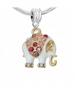 White Multi color Elephant Bracelet