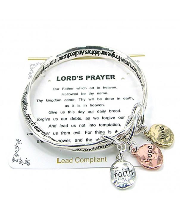 Lords Prayer Bangle Inspirational Bracelet