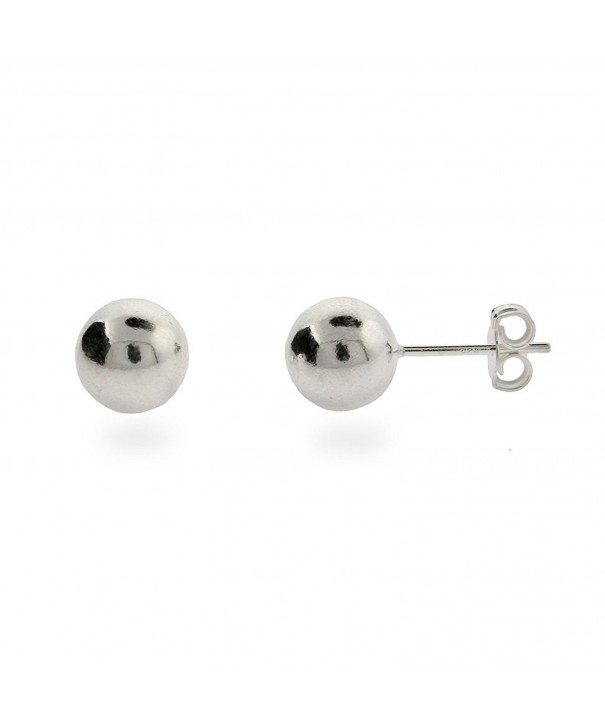 8mm Sterling Silver Bead Earrings