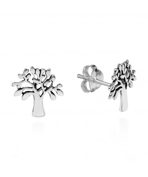 Loving Nature Sterling Silver Earrings