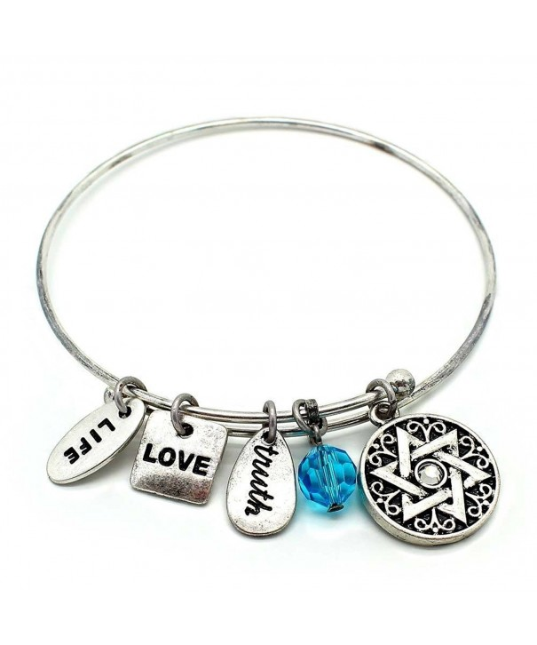 KIS Jewelry Symbology Bangle Bracelet Silver
