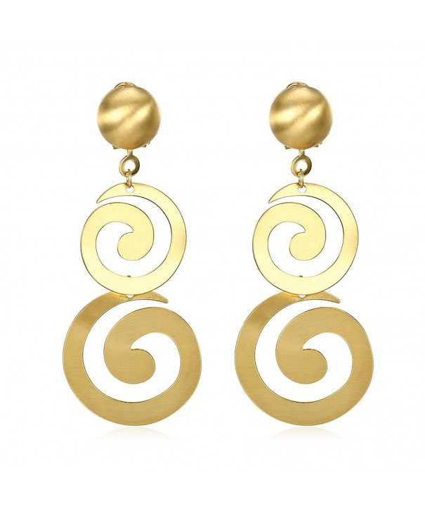 Womens Linear Swirl French Earrings