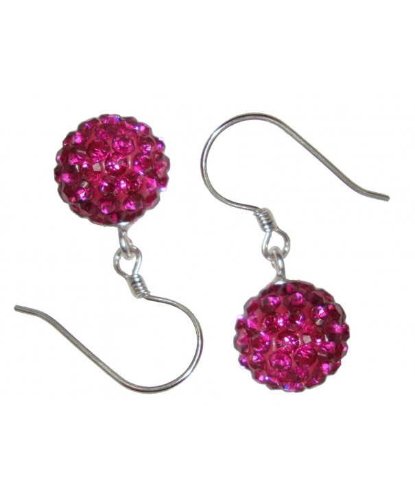 TTjewelry Sterling Zirconia Earrings Purple Red