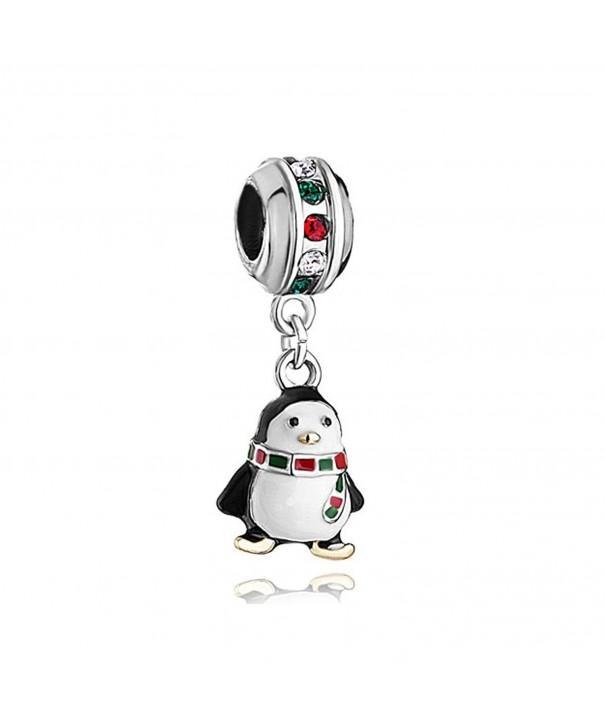 LovelyCharms Christmas Penguin Pandora Bracelets