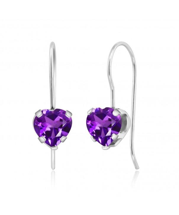 Purple Amethyst Sterling 5 prong Earrings
