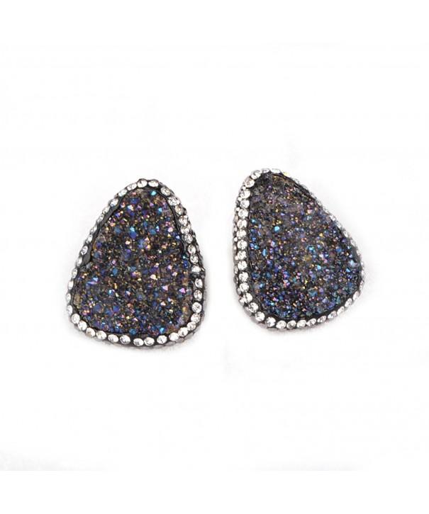 ZENGORI Sliver Plated Triangle Earrings