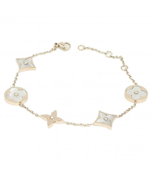 Baoli Titanium Clover Womens Bracelet