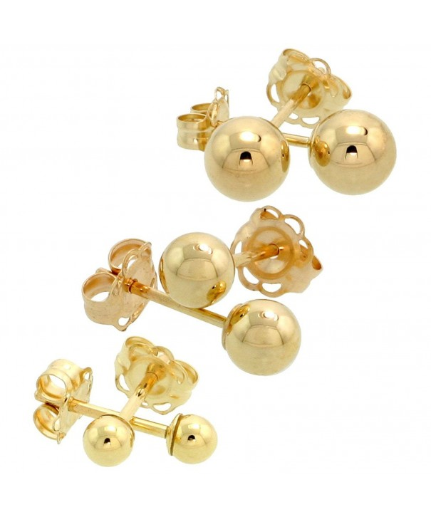 3 Pair Gold Earrings Cartilage Studs