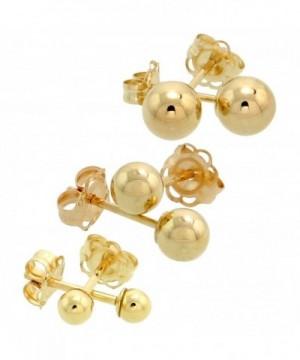 3 Pair Gold Earrings Cartilage Studs