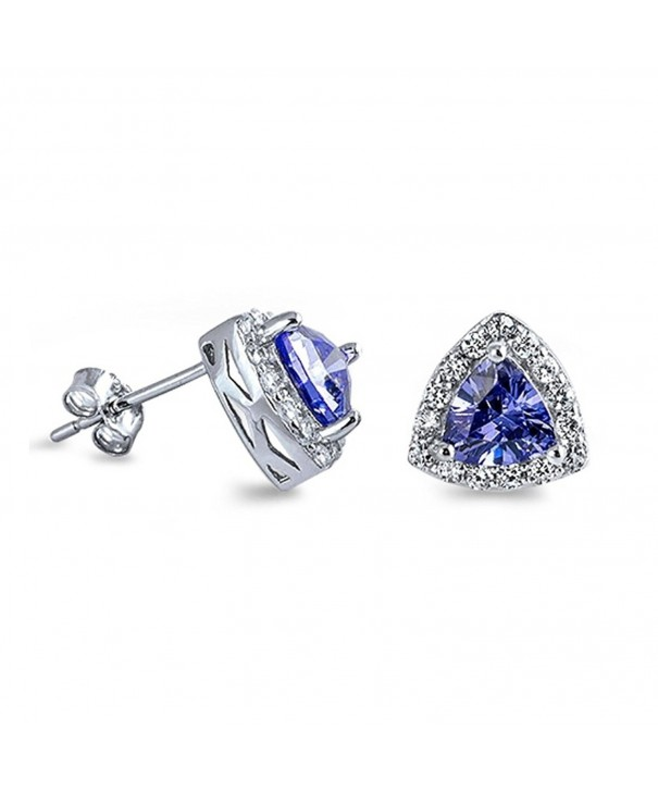 Triangle Trillion Simulated Blue Tanzanite