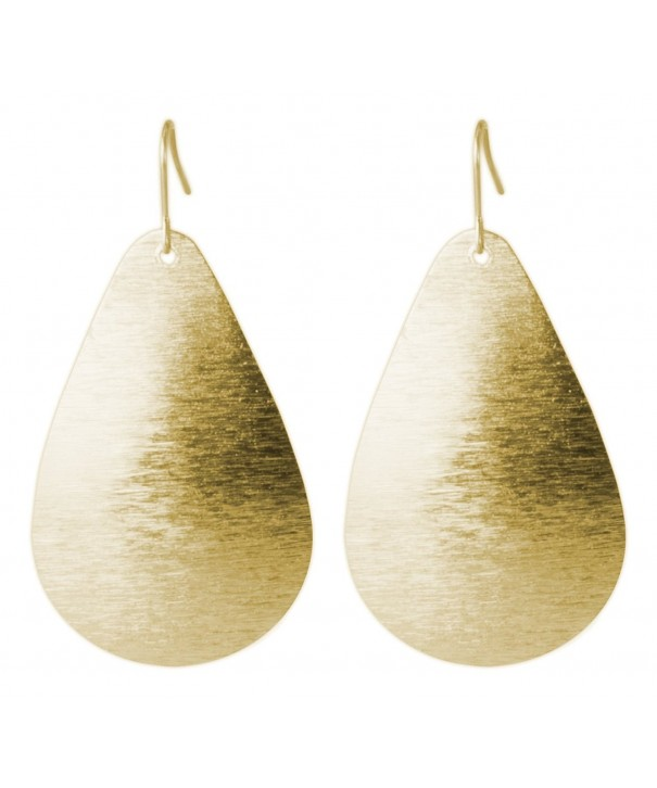 Brushed Teardrop Earring SPUNKYsoul Collection