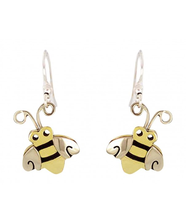 Honey Bumble Dangle Earrings Metals