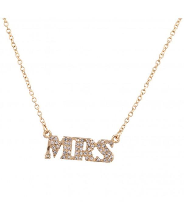 Lux Accessories Taken Pendant Necklace