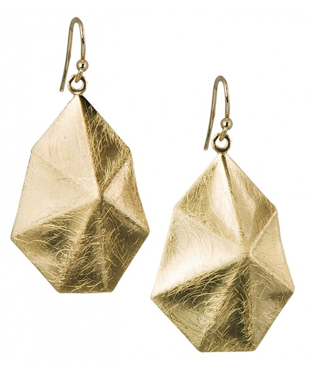 Scratched Earrings Heptagon SPUNKYsoul Collection