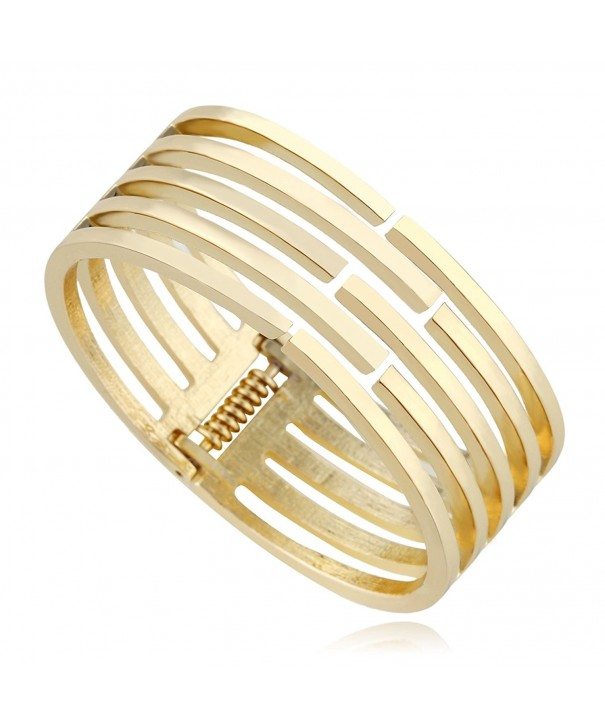 KAYMEN Classic Gold Plated Statement Bracelets
