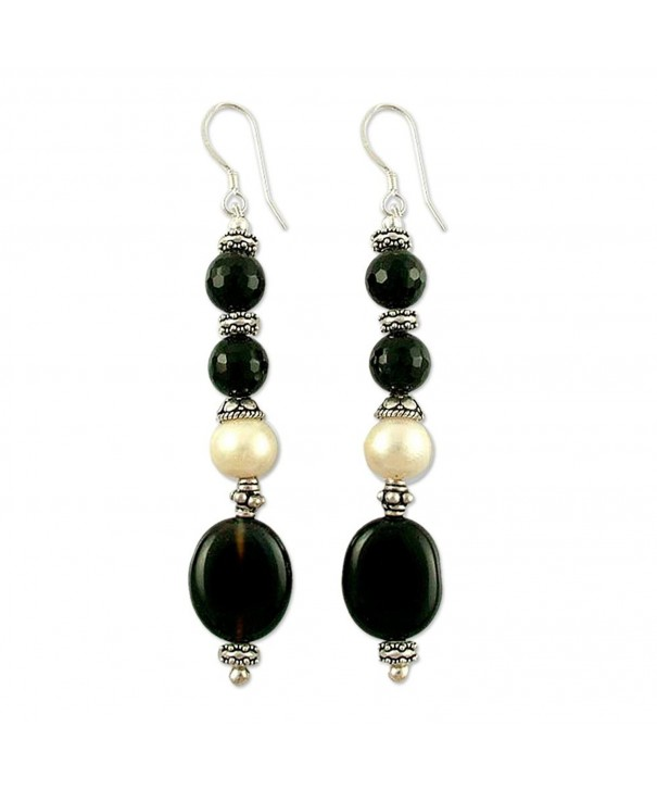 NOVICA Cultured Freshwater Earrings Extravaganza