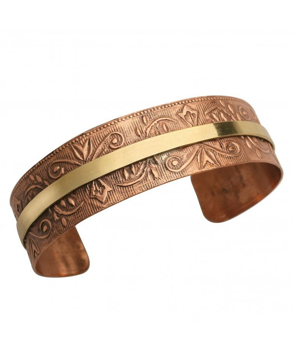 Womens Chic Copper Washed Cuff Bracelet