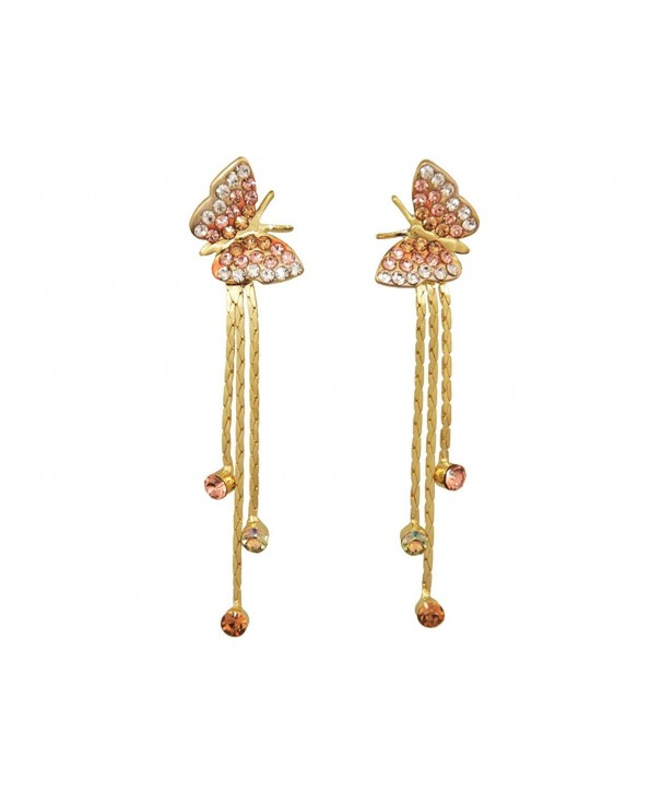 Yidarton Jewelry Rhinestone Butterfly Earring