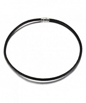 Leather Necklace Womens Fashion Titanium
