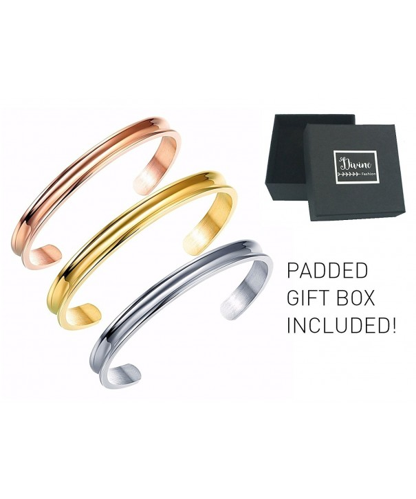 Stainless Bracelet Grooved Divine Fashion