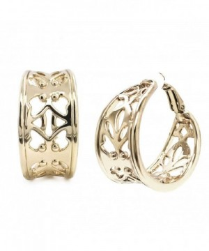 Earrings Filigree Plated Fashion inches