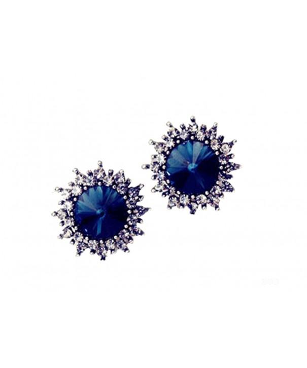 MMJULY Fashion Rhinestone Earrings Jewelry