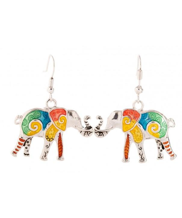 Artisan Owl Elephant Multicolor Decorative