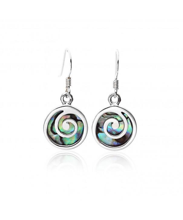 Sterling Abalone Shell Inlay Earring Women Nickel