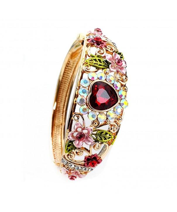 Austrian Crystal Enamel Flower Bracelet