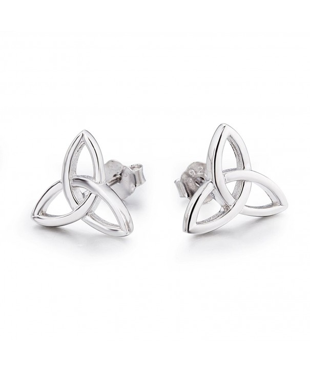 Sterling Silver Triquetra Earrings Triangle