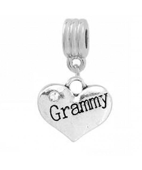 Grammy Engraved Heart Snake Bracelet
