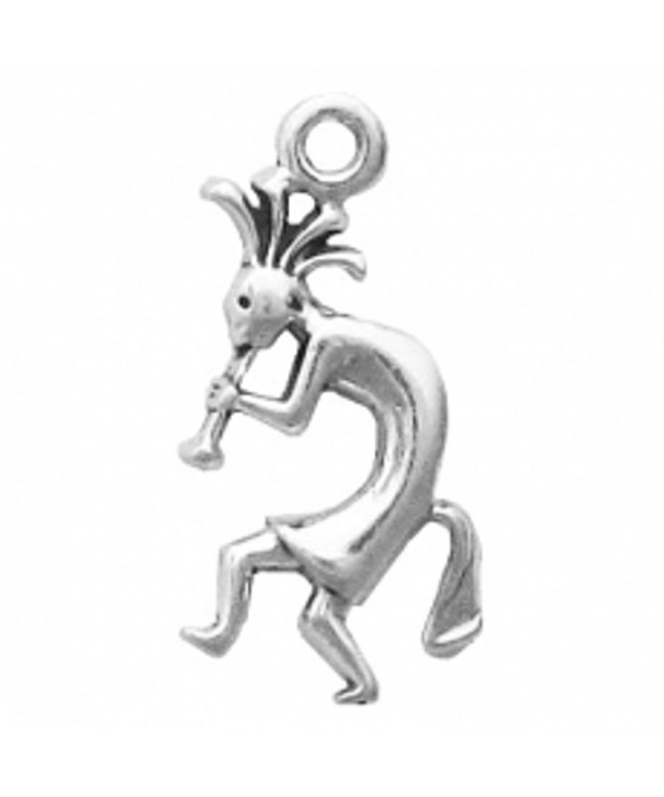 Sterling Silver Playing Kokopelli Facing