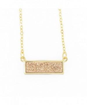 ZENGORI Handmade Titanium Rectangle Necklace