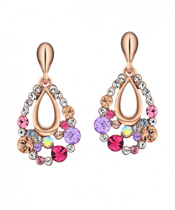Neoglory Jewelry Multicolor Rhinestone Earrings