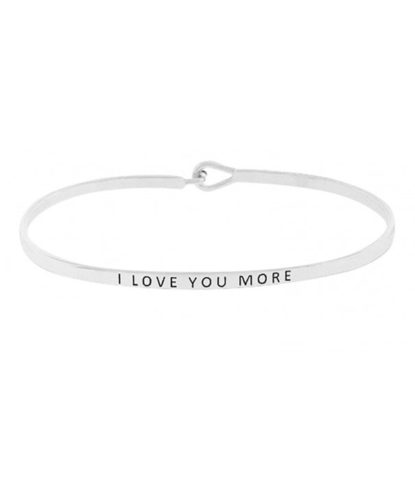 Sentimental Message Bangle Inspirational Bracelet