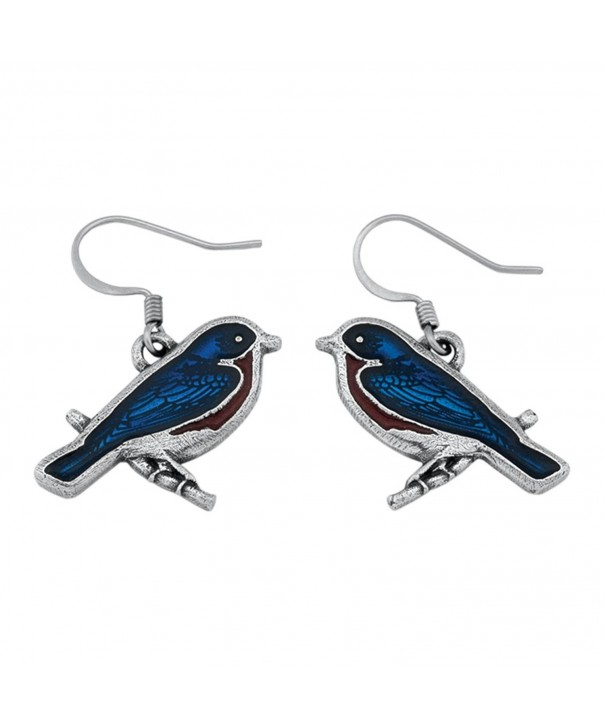 Danforth Pewter 05 029 2040 Bluebird Earrings