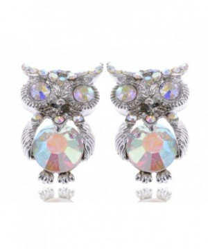 Alilang Silvery Iridescent Small Earrings