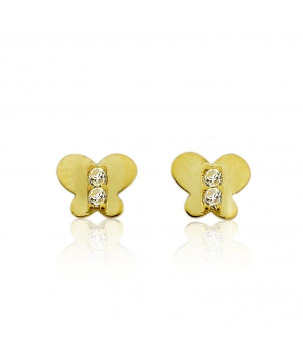 10KT Gold Butterfly Screw Earrings