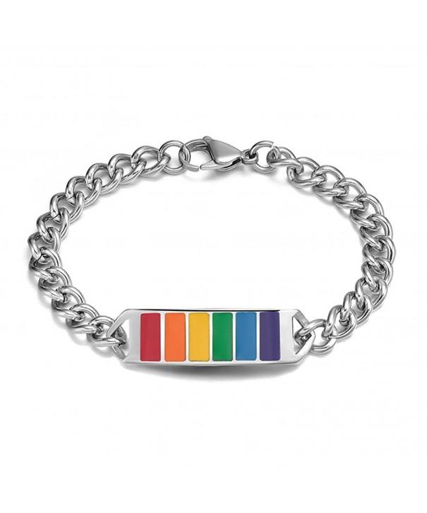 Jewelry Stainless Rainbow Bracelet Lesbian