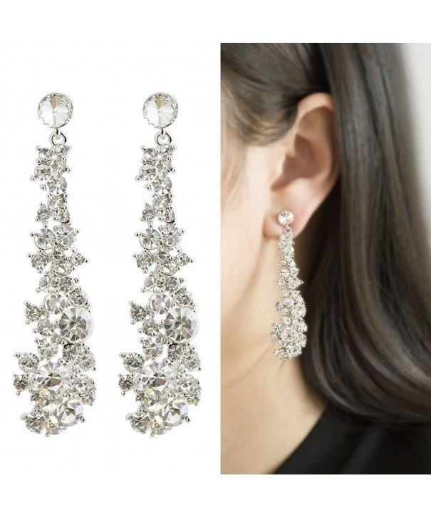 Waterfall Earrings CIShop UltraSparkling Simulated Diamonds Supper