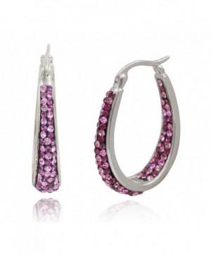 Creations Womens Genuine Crystal Earring