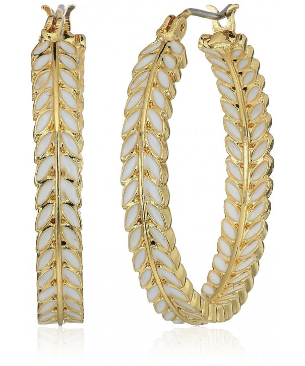 Lonna Lilly Gold Tone Hoop Earrings
