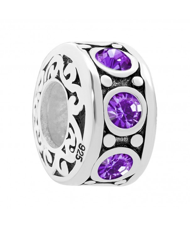 Mel Crouch Feb Purple Birthstone Bracelets