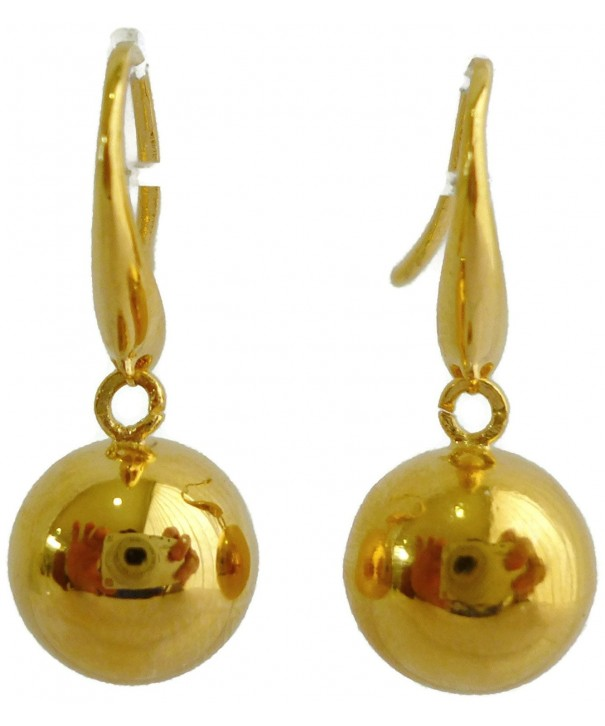 Yellow Plated Glitter Ornaments Earrings