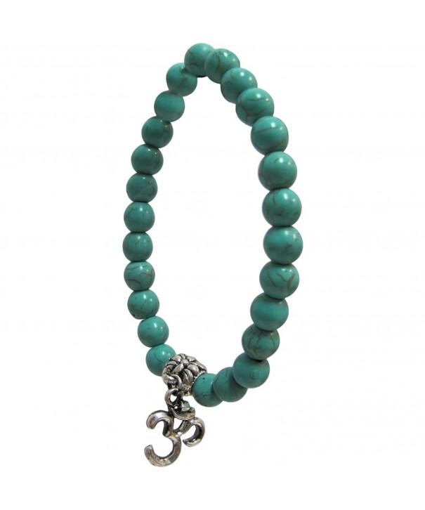 Fashion Turquoise Gemstone Meditation Bracelet