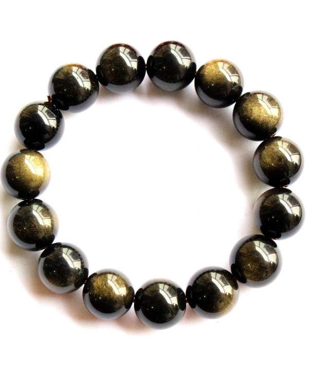 Natural obsidian Precious Gemstones Bracelet